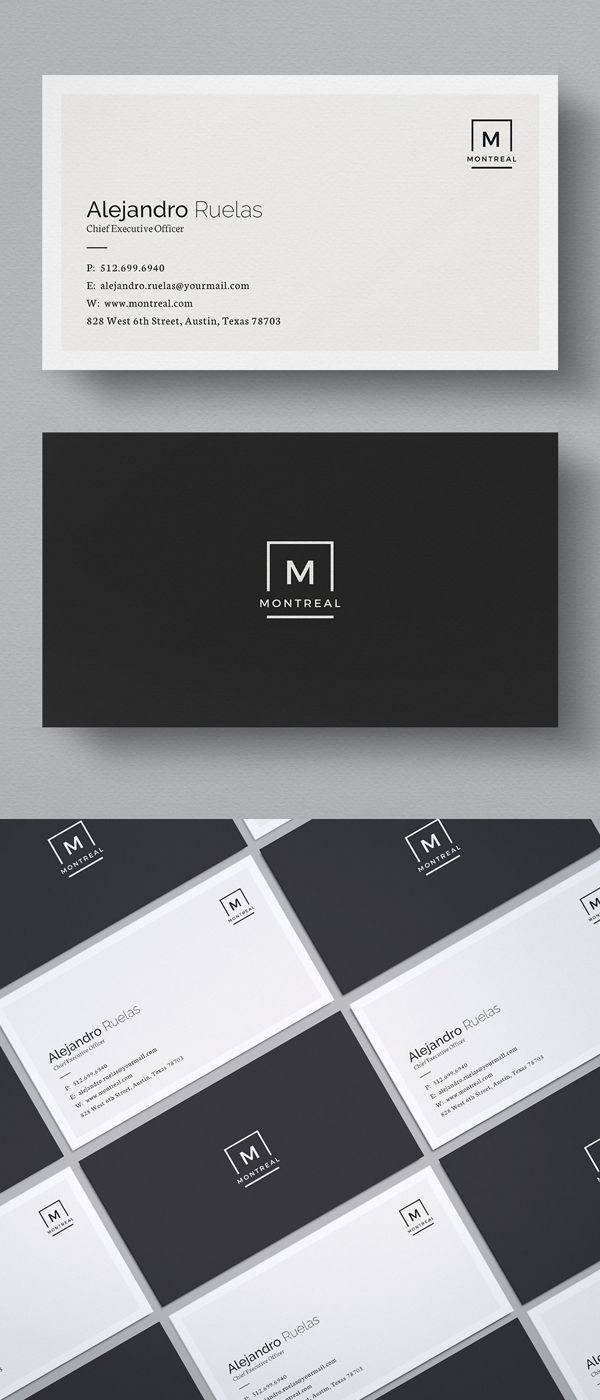 Simple Elegant Business Card Template Business Cards Layout