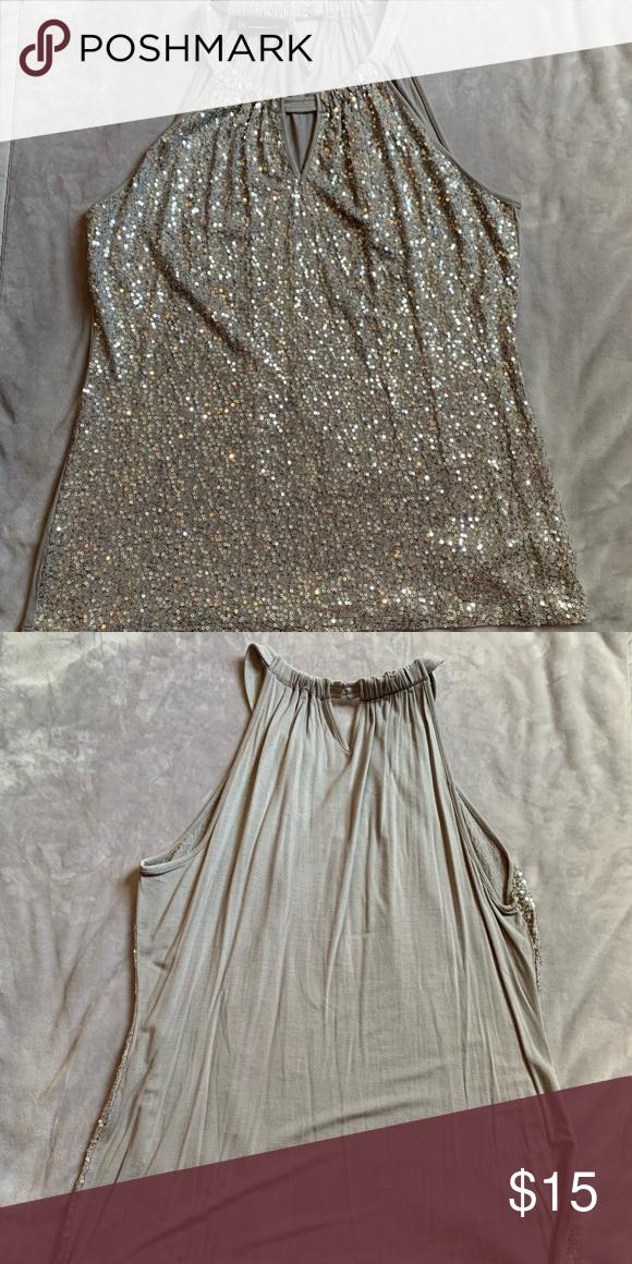 5a39e4fdf2325b INC dress top Cotton sequin dress tank top by INC
