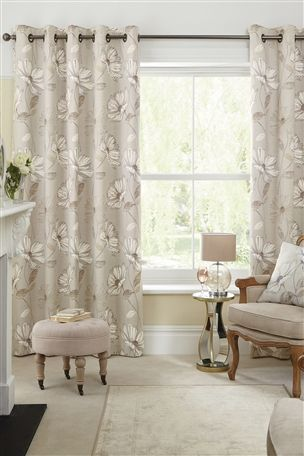 Buy Natural Serena Floral Printed Eyelet Curtains From The Next UK Online Shop Designs For Living RoomLiving