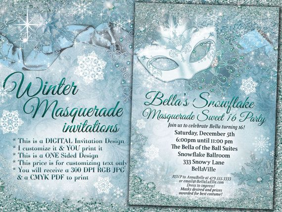 winter wonderland party winter snowflake invitation winter party