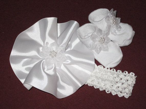 Hand Sewn Christening Set  White Pearls  by SugarBearHair on Etsy, $10.00  www.etsy.com/shop/sugarbearhair