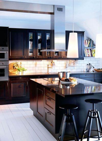 Ilot de cuisine  bien le choisir cocinas Pinterest Maison - Repeindre Un Meuble En Bois Vernis