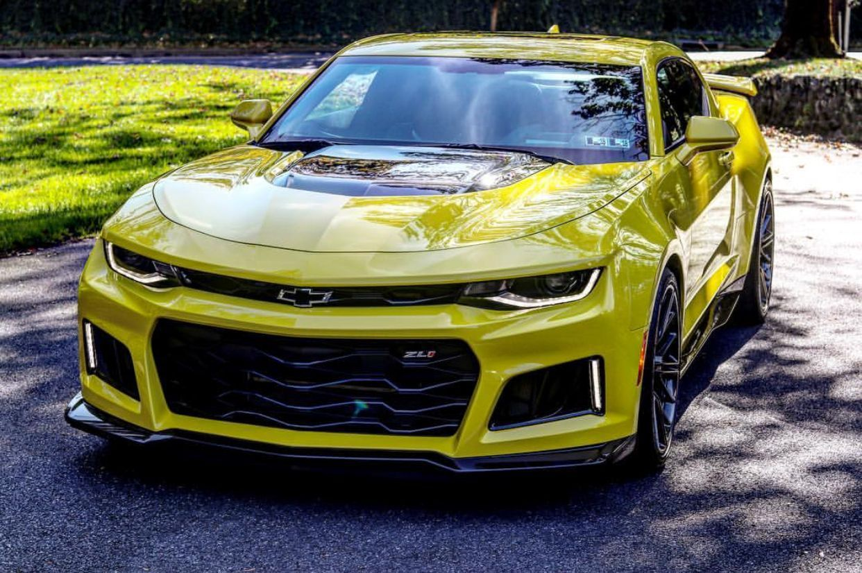 Chevrolet Camaro Zl1 Painted In Bright Yellow Photo Taken By Purepowerzl1 On Instagram Owned By Purepowerz Chevrolet Camaro Camaro Zl1 Chevrolet Camaro Zl1