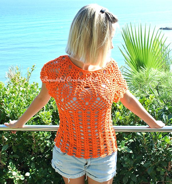 Pineapple Crochet Top Free Pattern Beautiful Crochet Stuff Your