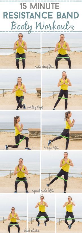 Photo of 15 Minuten Resistance Band Booty Workout