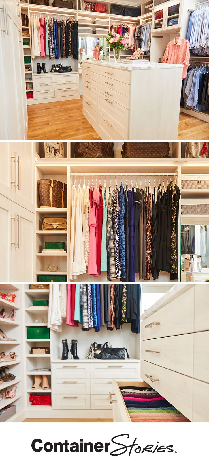 There's room for everything in Brooke and her husband's new TCS Closet. Charlie, her Contained Home Organizer created a plan that brought her dream space to life.
