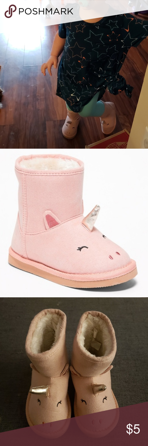 Pink Unicorn Boots   Pull on boots