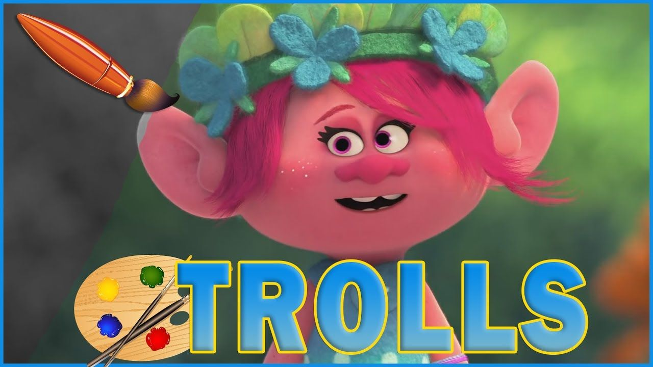 Poppy Becoming Queen Trolls Movie Kids Coloring Book Coloring Pages Coloring For Kids Trolls Movie Coloring Books