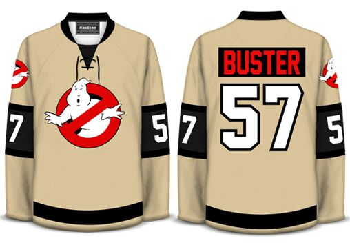 a9c7e9378 Geeky Jerseys offer new Ghostbusters design. Oh! Please come in goalie cut.