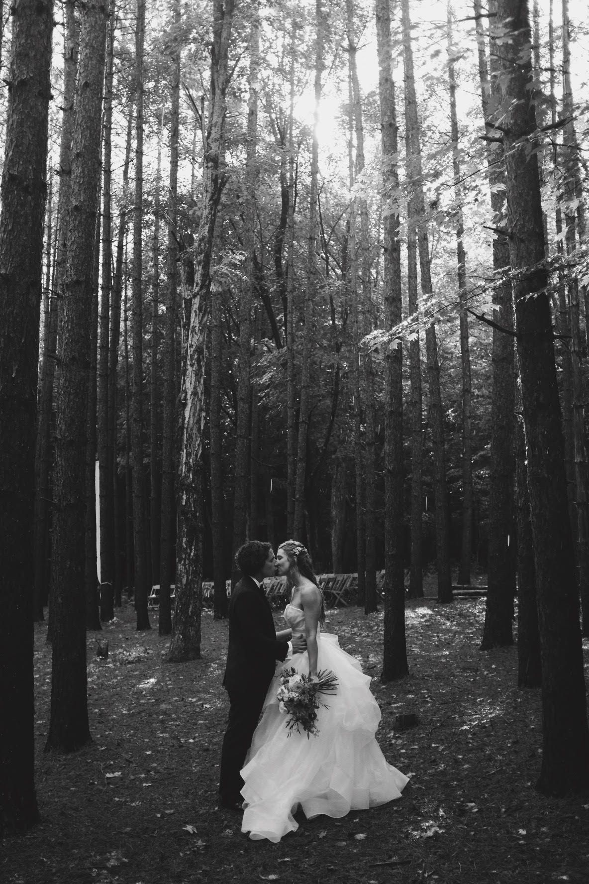 Best day of our lives.  My wedding at the Roxbury Barn in the Catskills in NY.  Image by Jeremy Harwell.  Dress by Hayley Paige. woods wedding wedding dresses fairy princess barn wedding bonfire wedding pine tree wedding,