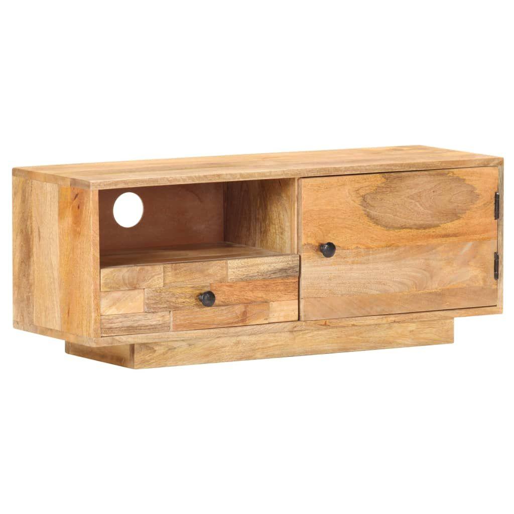 TV Cabinet 90x30x35 cm Solid Mango Wood