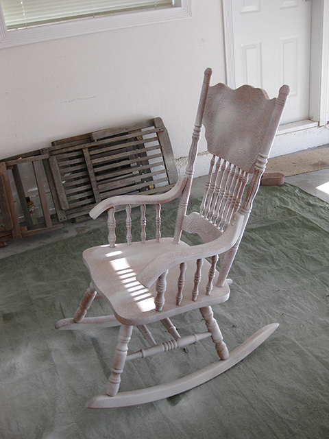 Today Is The Reveal Of Our Pinterest Inspired Project! I Have Been  Pondering Repainting My Oak Rocking Chair For Some Time Now, ...