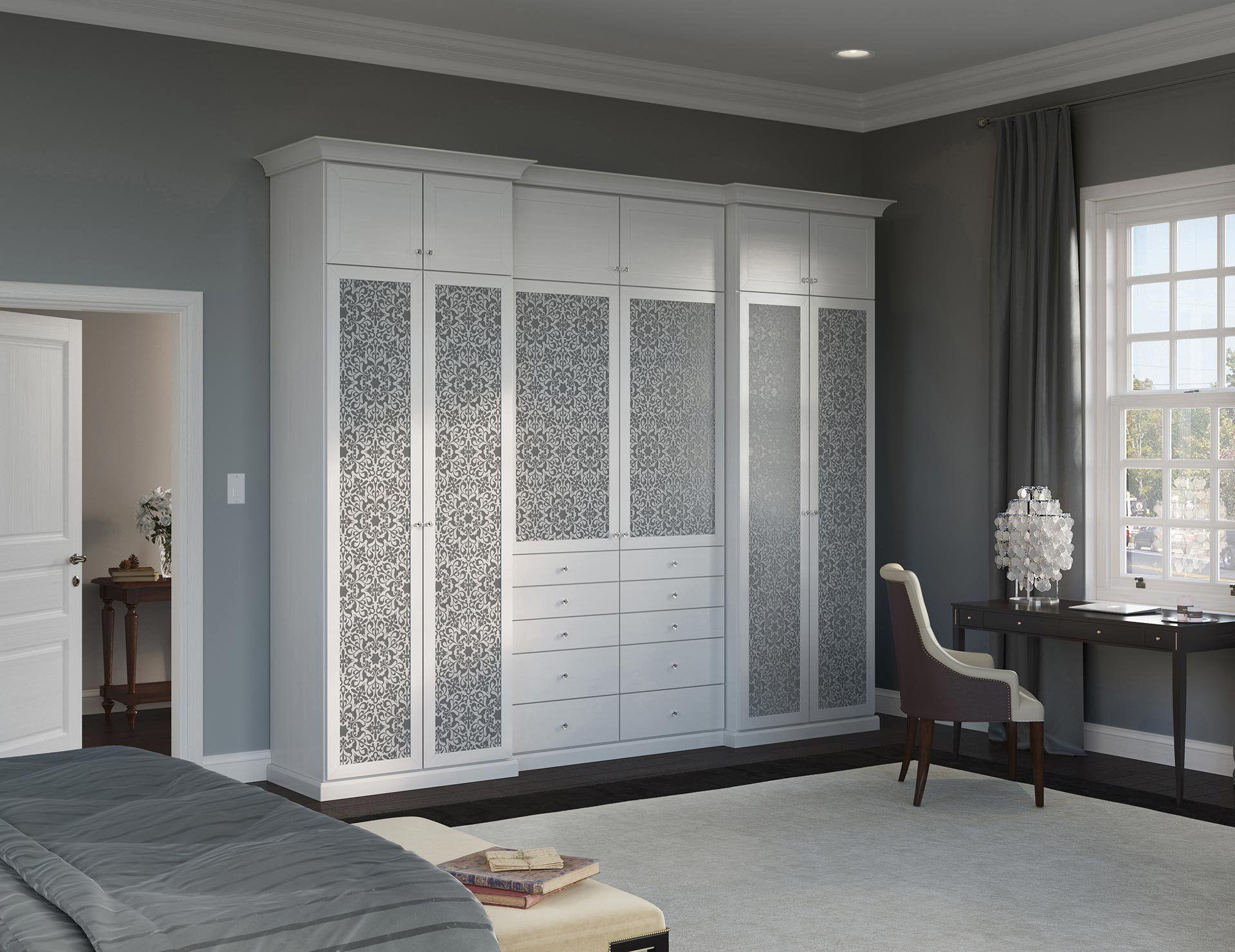 Bedroom Closet Furniture Attached Bathroom Design India White