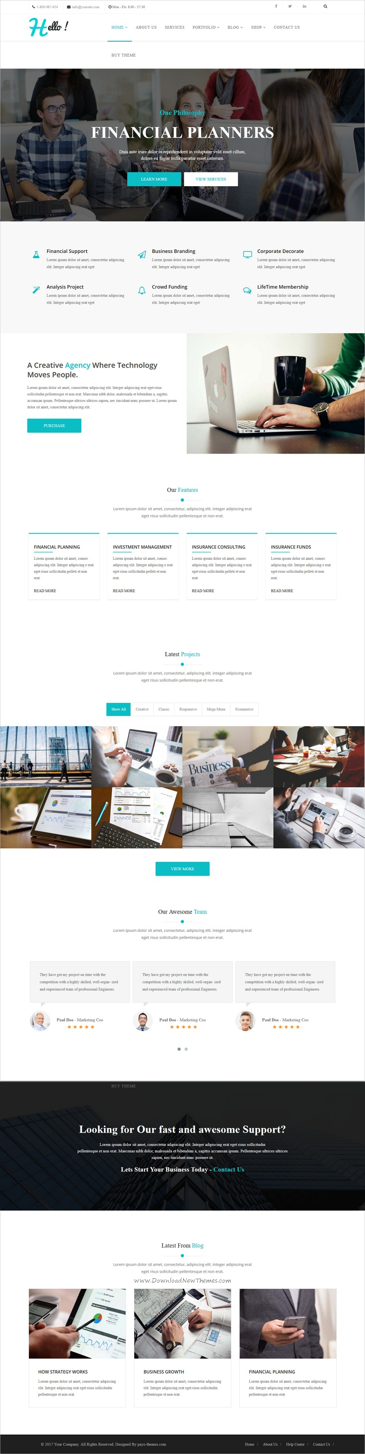Hello is a multipurpose responsive Joomla template for
