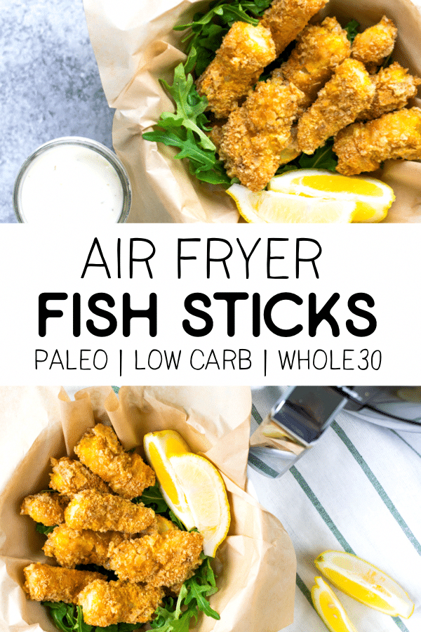 Air Fryer Fish Sticks Paleo & Low Carb Beauty and the
