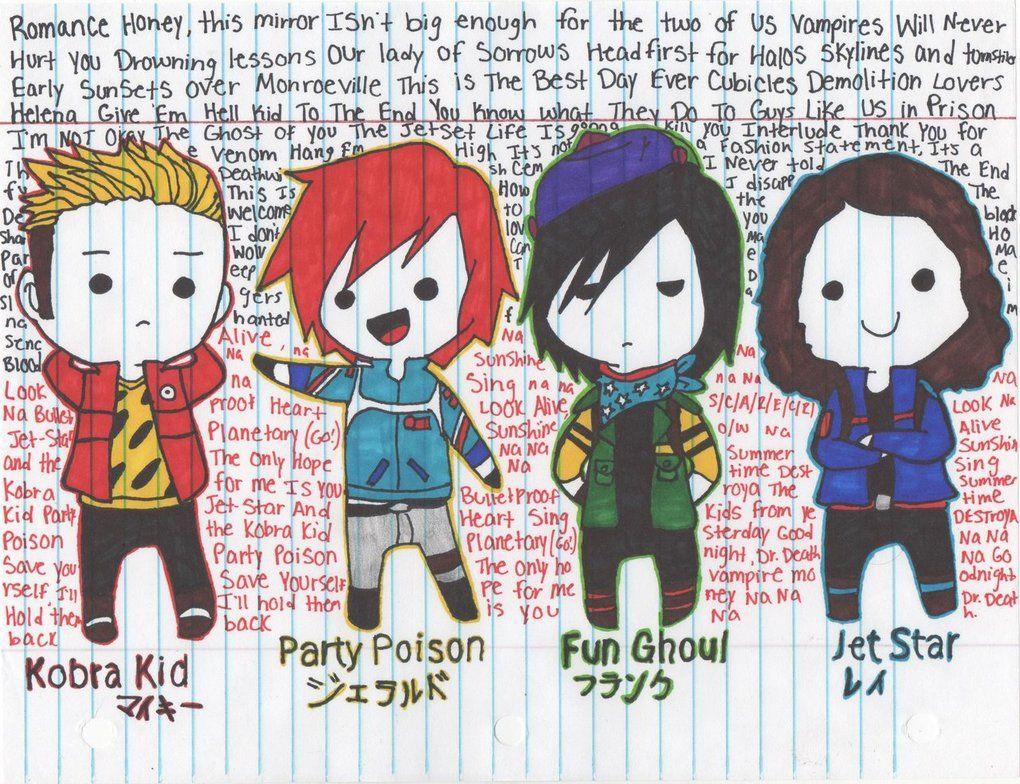 My Chemical Romance Chibis by Loliberyy