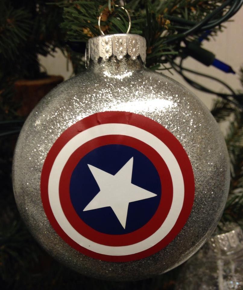 Holiday Christmas Tree Ornament Marvel Comic Superhero Captain America Christmas Ornaments Superhero Christmas Holiday Christmas Tree
