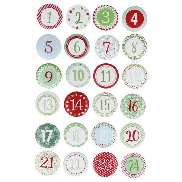 Cabochons en bois noel classique chiffres pour calendrier de l 39 avent no l calendrier de l - Chiffres pour calendrier de l avent a imprimer ...