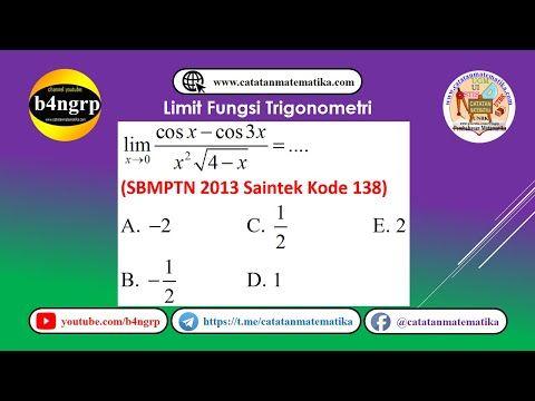 Limit Fungsi Trigonometri Sbmptn 2013 Saintek Kode 138 Lft3 Matematika Trigonometri Video