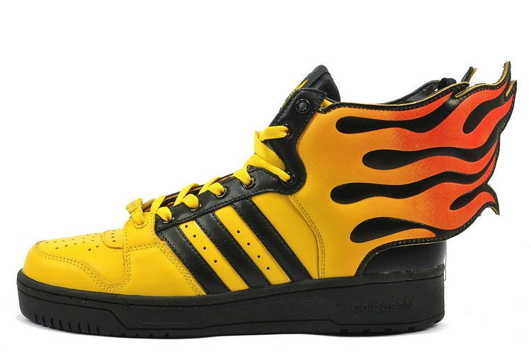 Adidas Jeremy Scott Wings Flames- be careful you don't burn up in re-entry-  Hermes , my crazy darling-