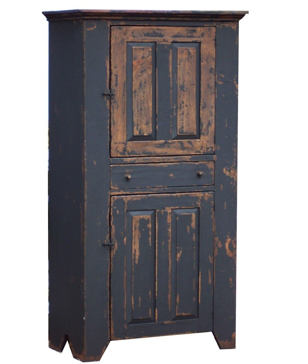 Primitive farmhouse kitchen cupboard cabinet country painted early