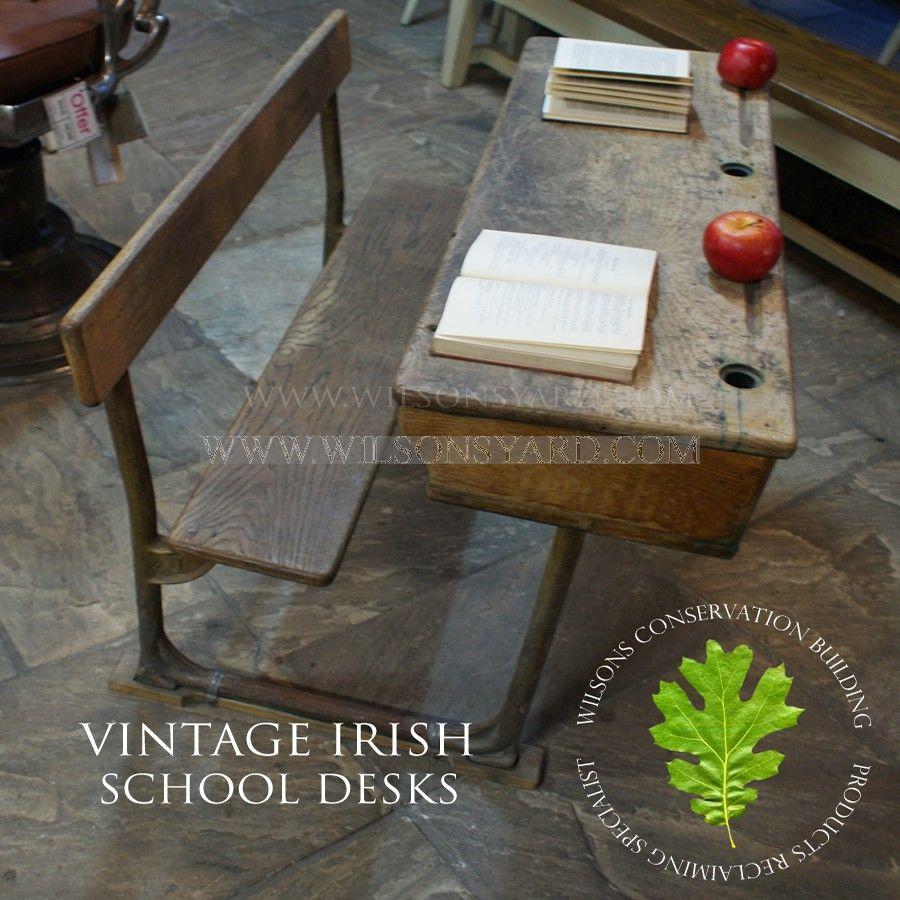 Vintage Irish School Desks School Desks Old School Desks Desk