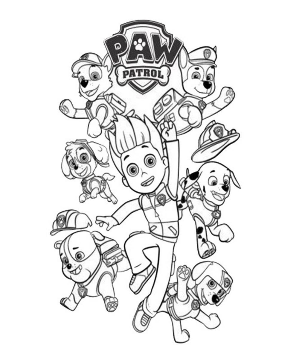 Paw patrol coloring pages happy birthday - Ryder Paw Patrol Coloring Pages