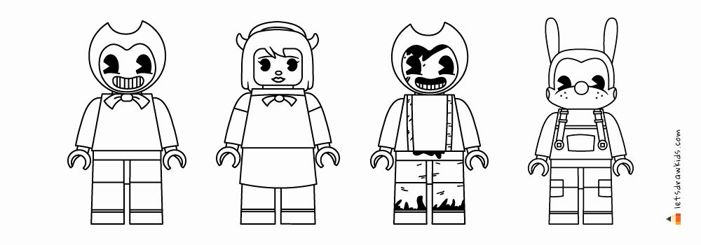 Bendy And The Ink Machine Coloring Page Unique Drawing Lego Bendy And The Ink Machine Set In 2020 Coloring Pages Angel Coloring Pages Easy Coloring Pages