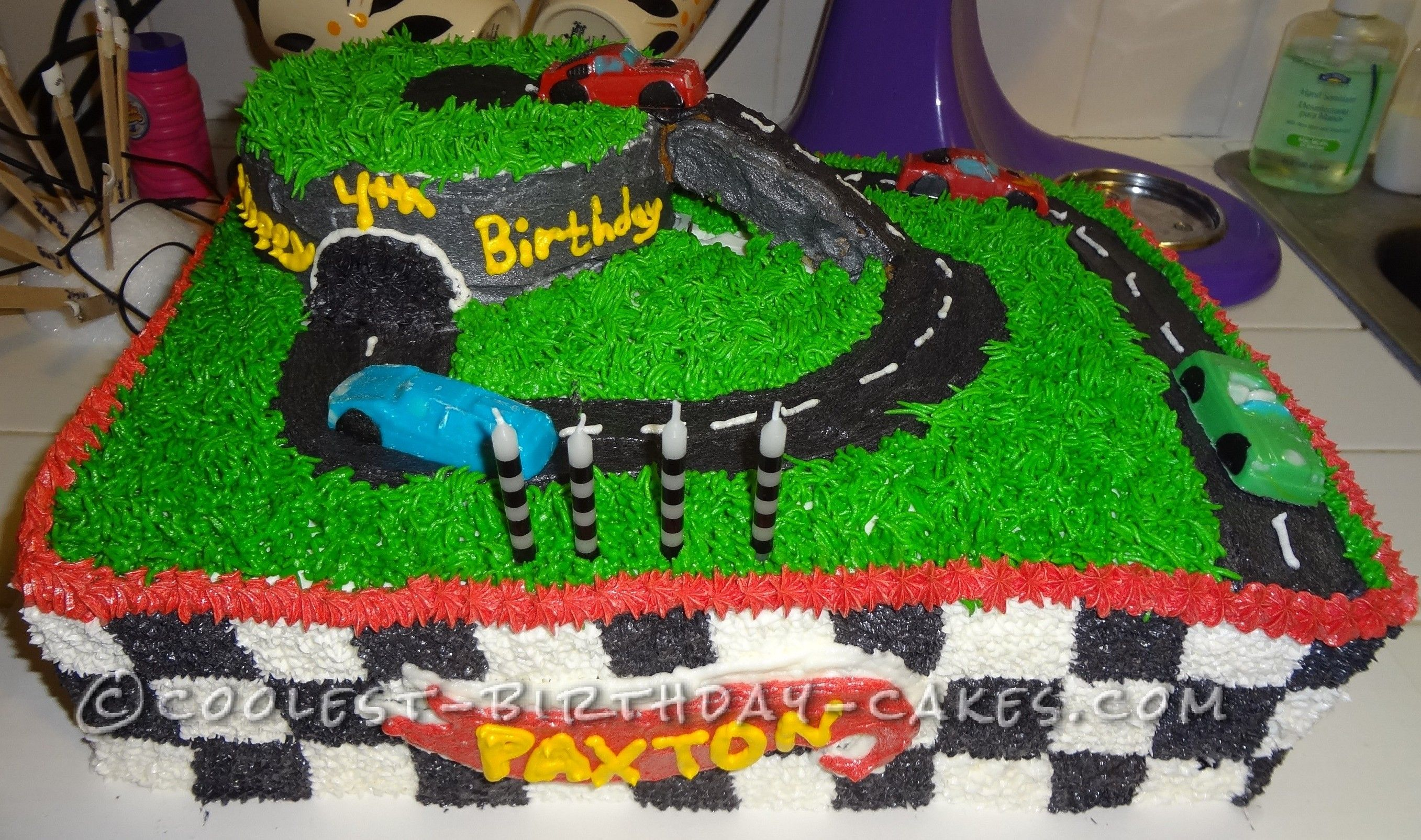 Coolest Hot Wheels Racetrack Birthday Cake With Images Hot