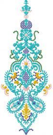 Decoration free embroidery design 12. Machine embroidery design. www.embroideres.com