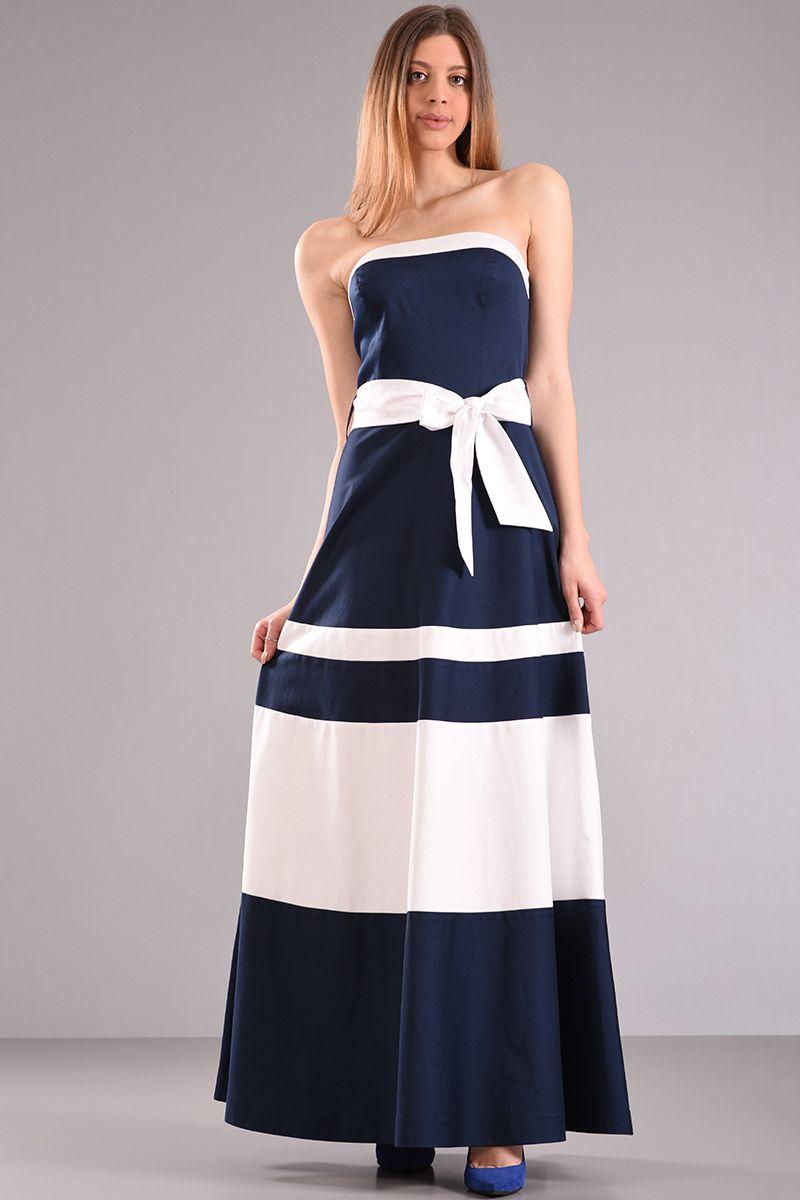 Strapless maxi φορεμα με φιόγκο 08ff773cf6e