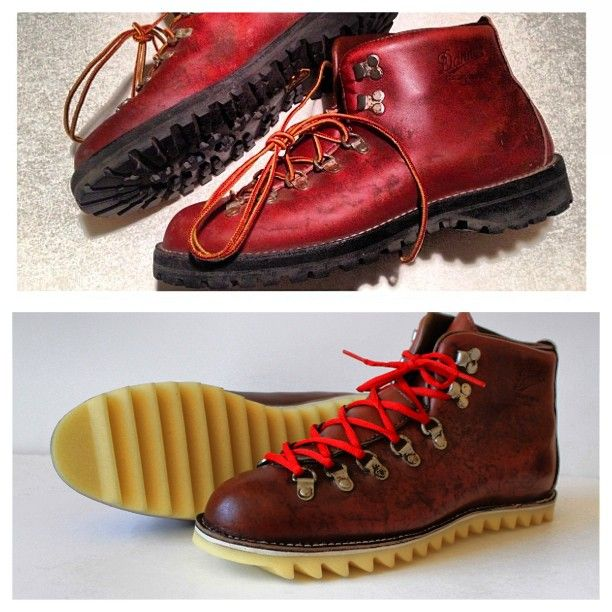 Before and after of a customers Danner Boots with our ripper sole ...