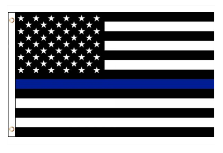 First Responders Thin Blue Police Line House Flag In 2020 Flag Decor House Flags Thin Blue Line Flag
