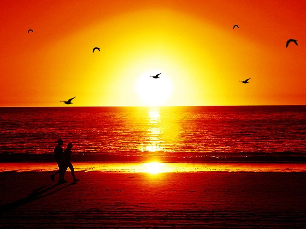 beautiful sunset beach 34 1080p wallpaper - trendy wallpapers