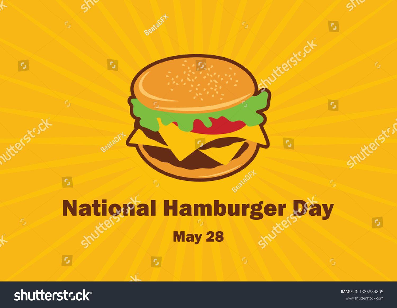 National Hamburger Day vector. Burger cartoon. Hamburger vector. Important day ,