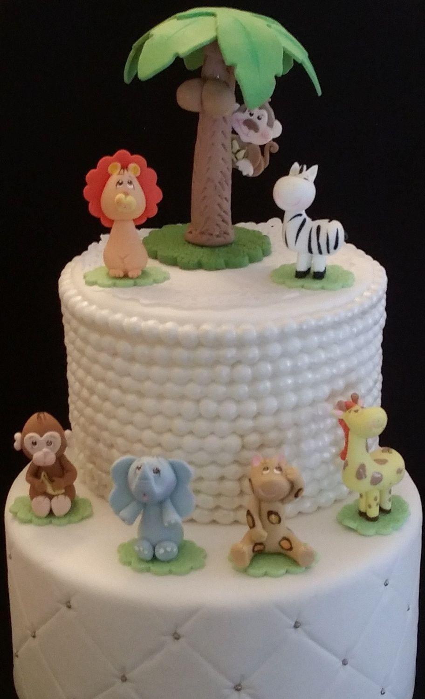 Jungle Safari Birthday Cake Decorations Wild Safari Birthday Party