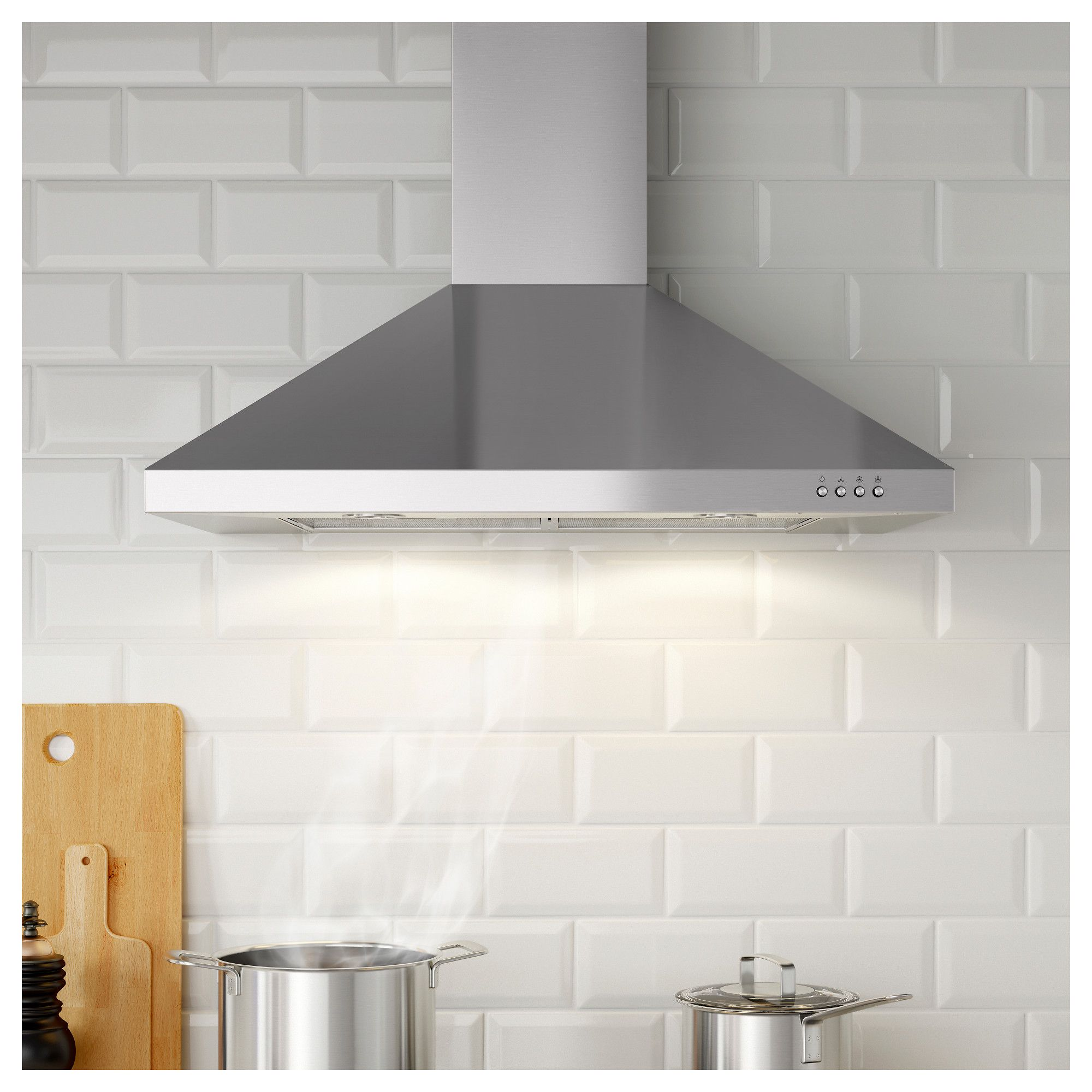 Ikea Luftig Exhaust Hood Stainless Steel Campanas De Cocina Extractores De Cocina Ikea