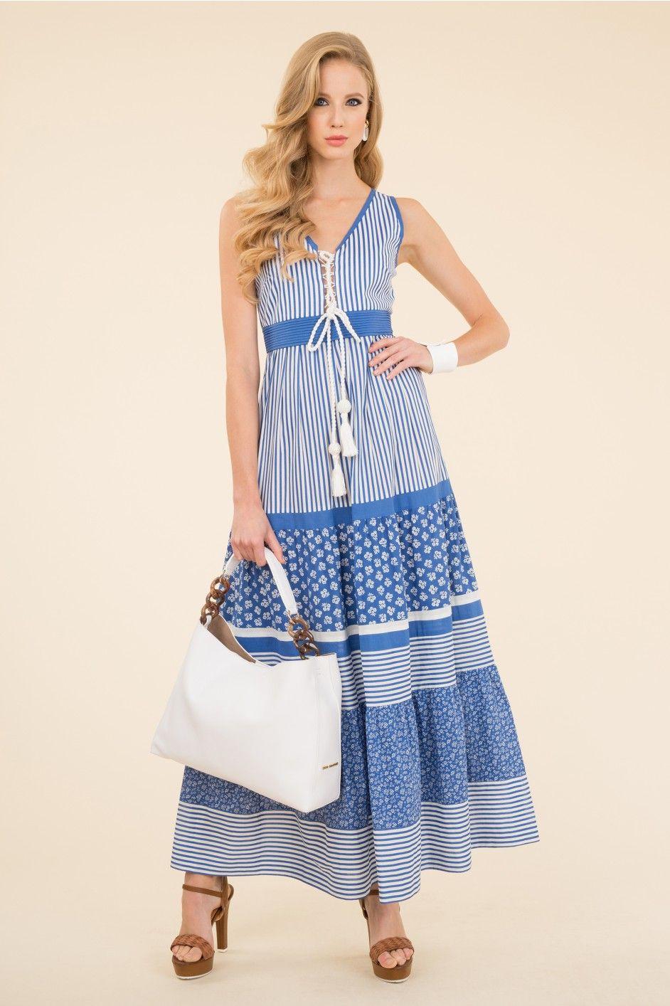 Multi-pattern printed cotton dress | COSAS PARA PONERSE | Pinterest ...