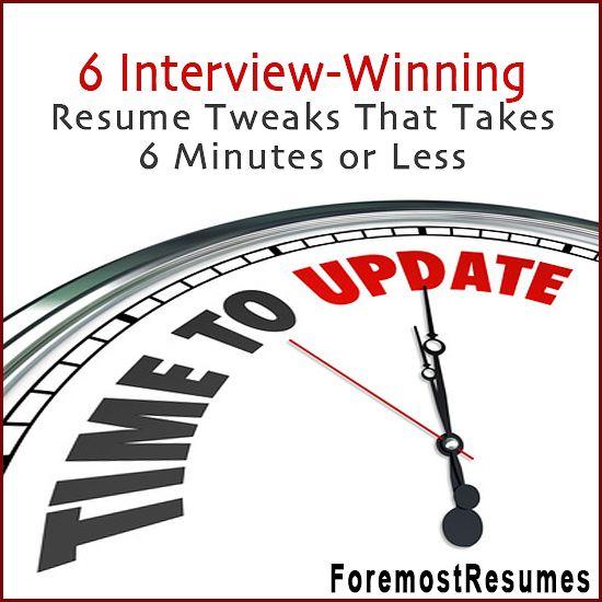 6 resume tweaks that help you win that job interview Resume writer