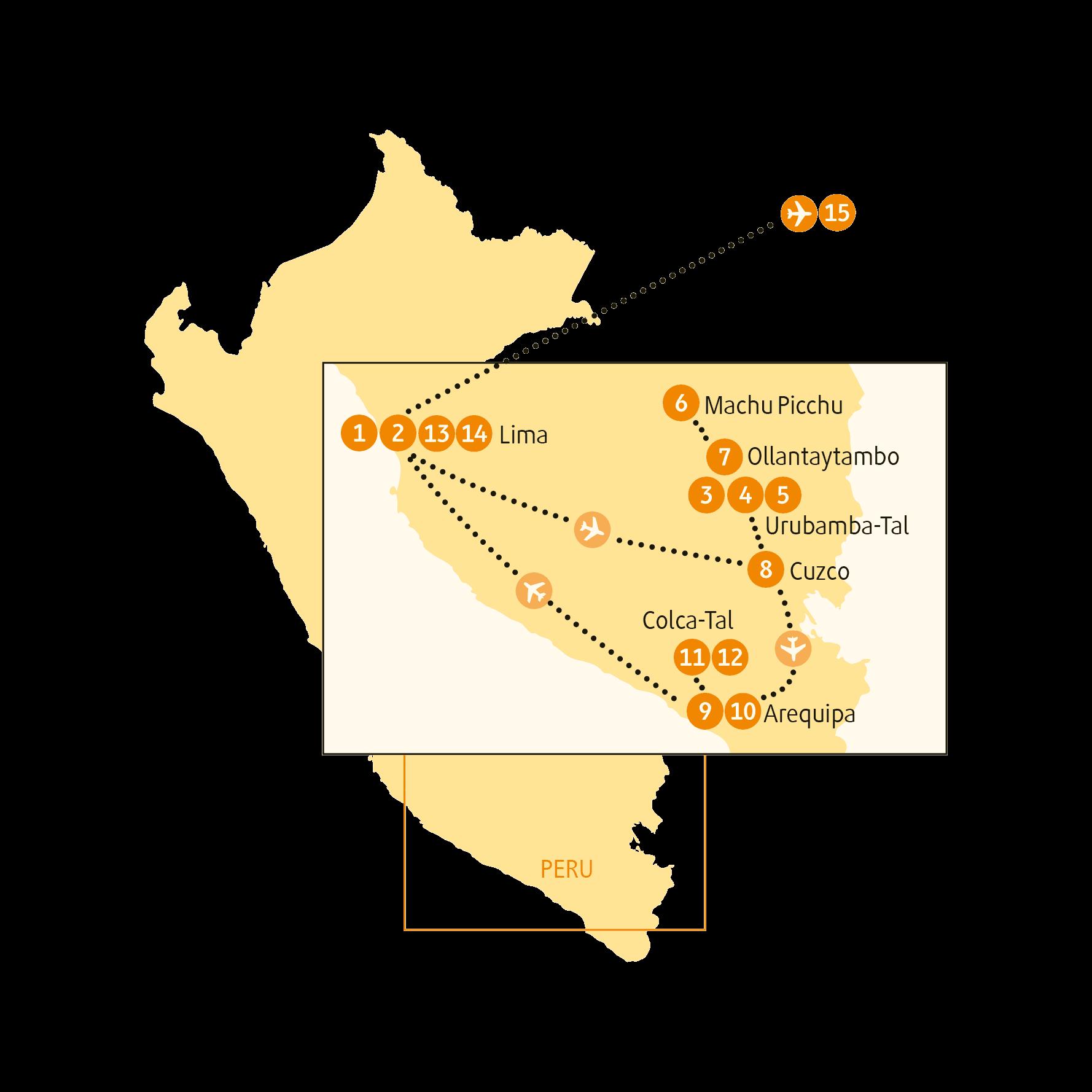 Reiseroute Urubamba Entspannt C Chamaleon Reisen Chamaleon Peru