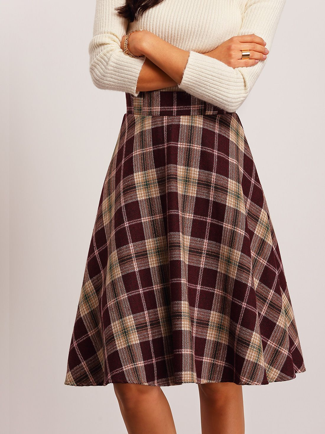 Shop Red High Waist Plaid Midi Skirt online. SheIn offers Red High Waist Plaid Midi Skirt & more to fit your fashionable needs.