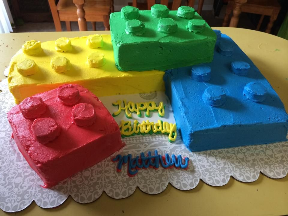 Lego Birthday Cake Without Fondant Mit Bildern Kuche