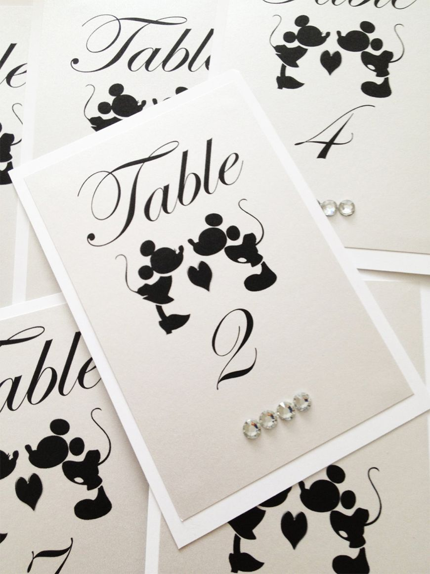 Wedding Table Name Ideas Disney  The Classics  CHWV