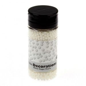 PME Edible Decorations White Sugar Pearls / Zuckerperlen Weiss