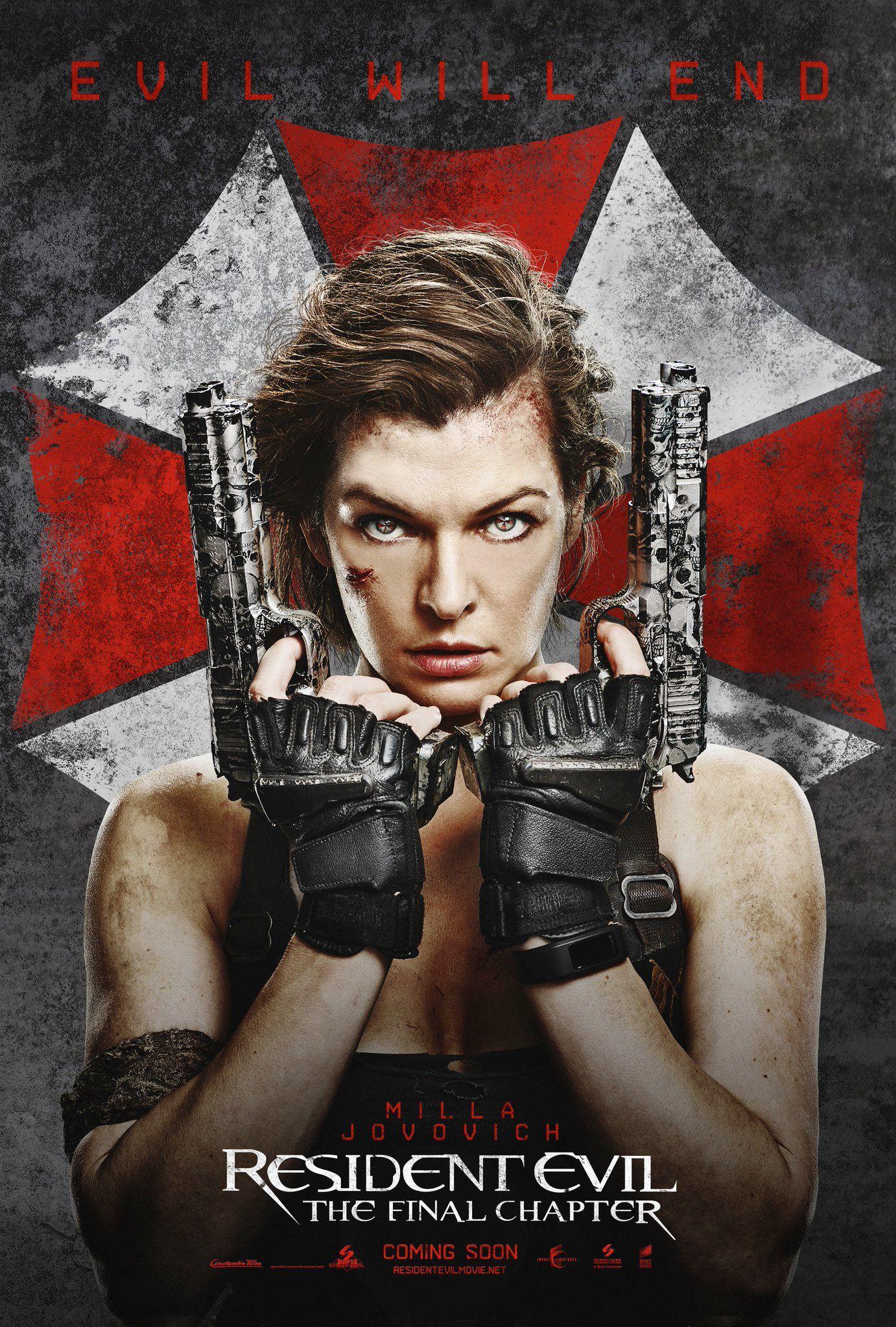 Two New International Posters For Resident Evil The Final Chapter Debut Resident Evil Resident Evil Pelicula Portadas De Peliculas
