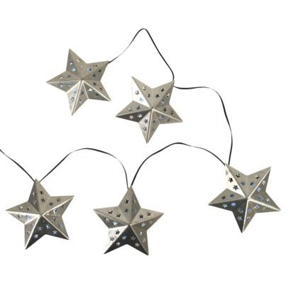 Target Solar String Lights Threshold™ Solar Metal Star String Lights 20Ct  Garden & Backyard