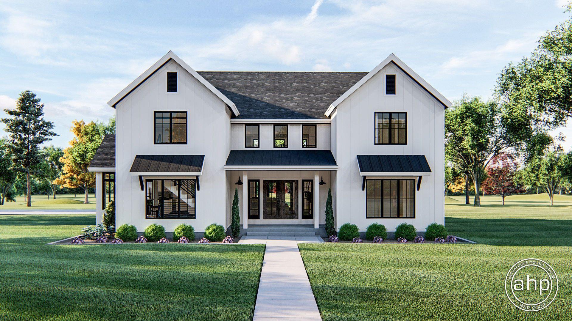 1.5 Story Modern Farmhouse Style House Plan | Savannah #modernfarmhousestyle