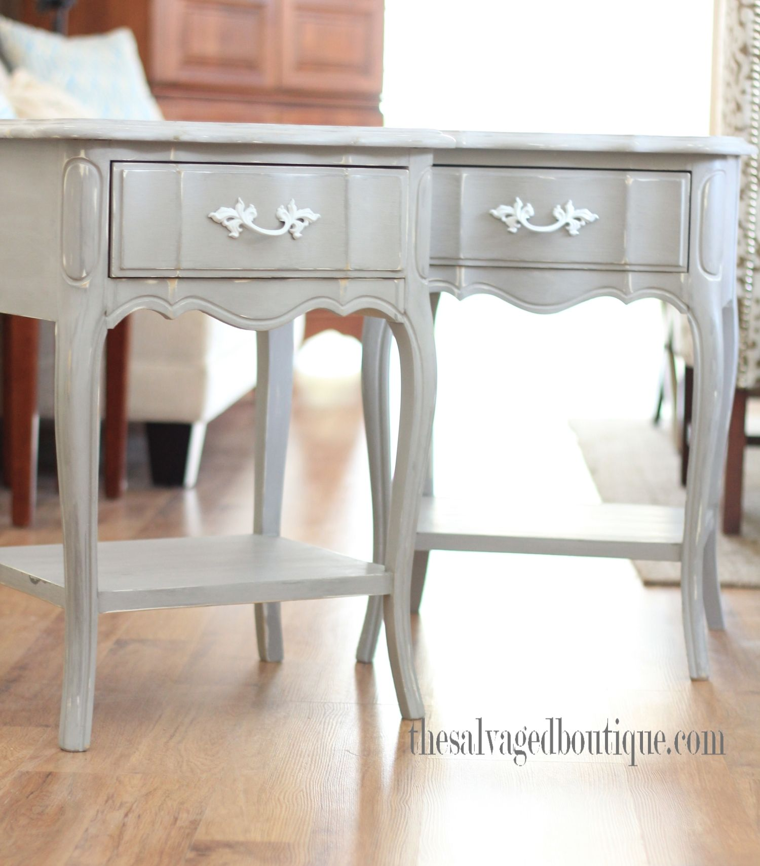 French Provincial Furniture   Custom Painted French Provincial Bedroom Set