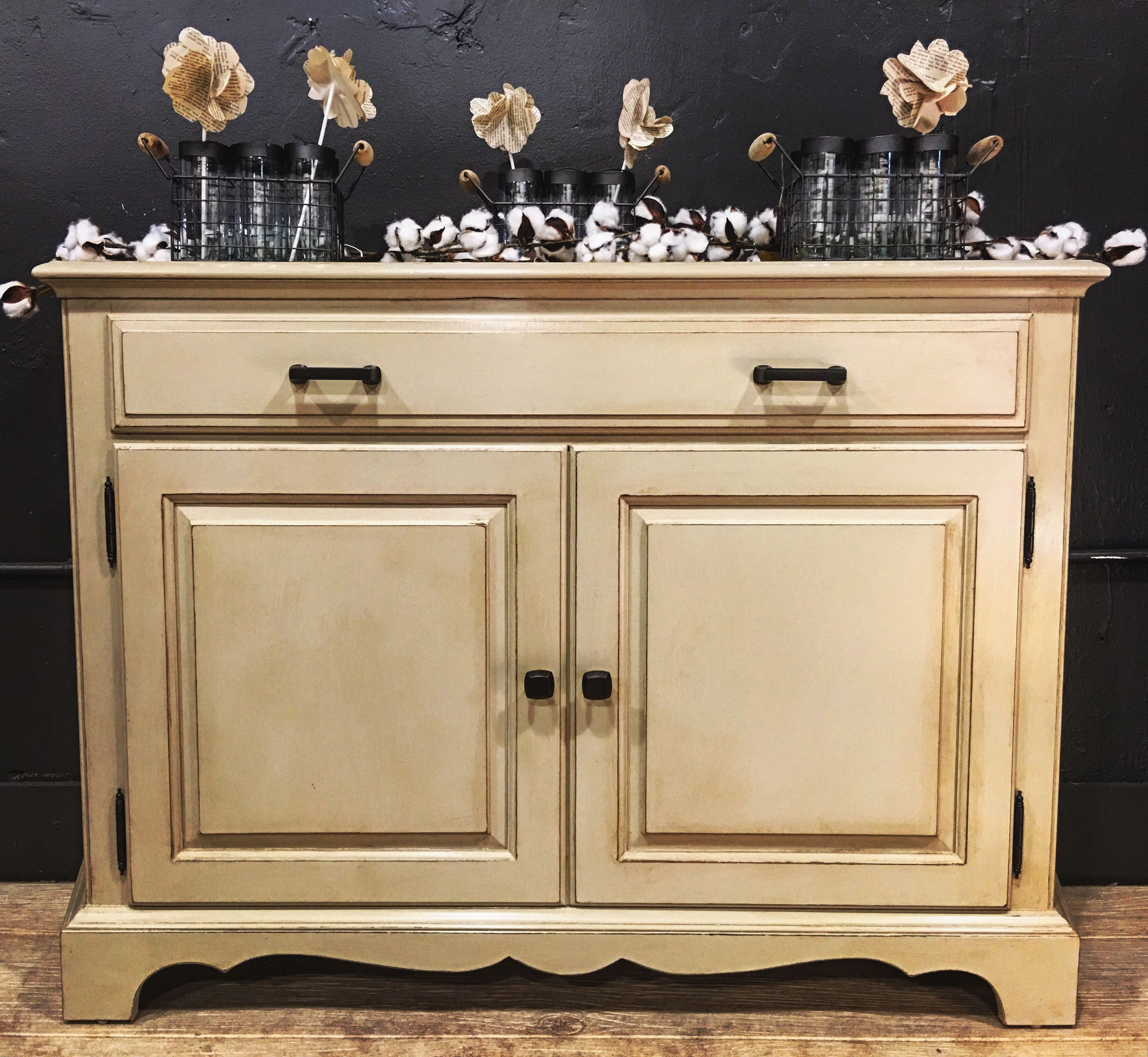 Buffet painted with General Finishes Millstone Milk paint The