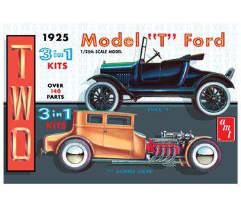 Two Model T Ford Kits By Amt Model Cars Kits Model Kit Car Model